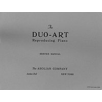 Duo-Art Service Manual