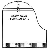 Affleck Piano Tuning Accessories Grand Floor Template