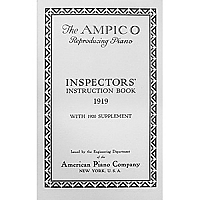Ampico 1919 Manual with 1920 Supplement