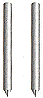 Pointed End Bridge Pins